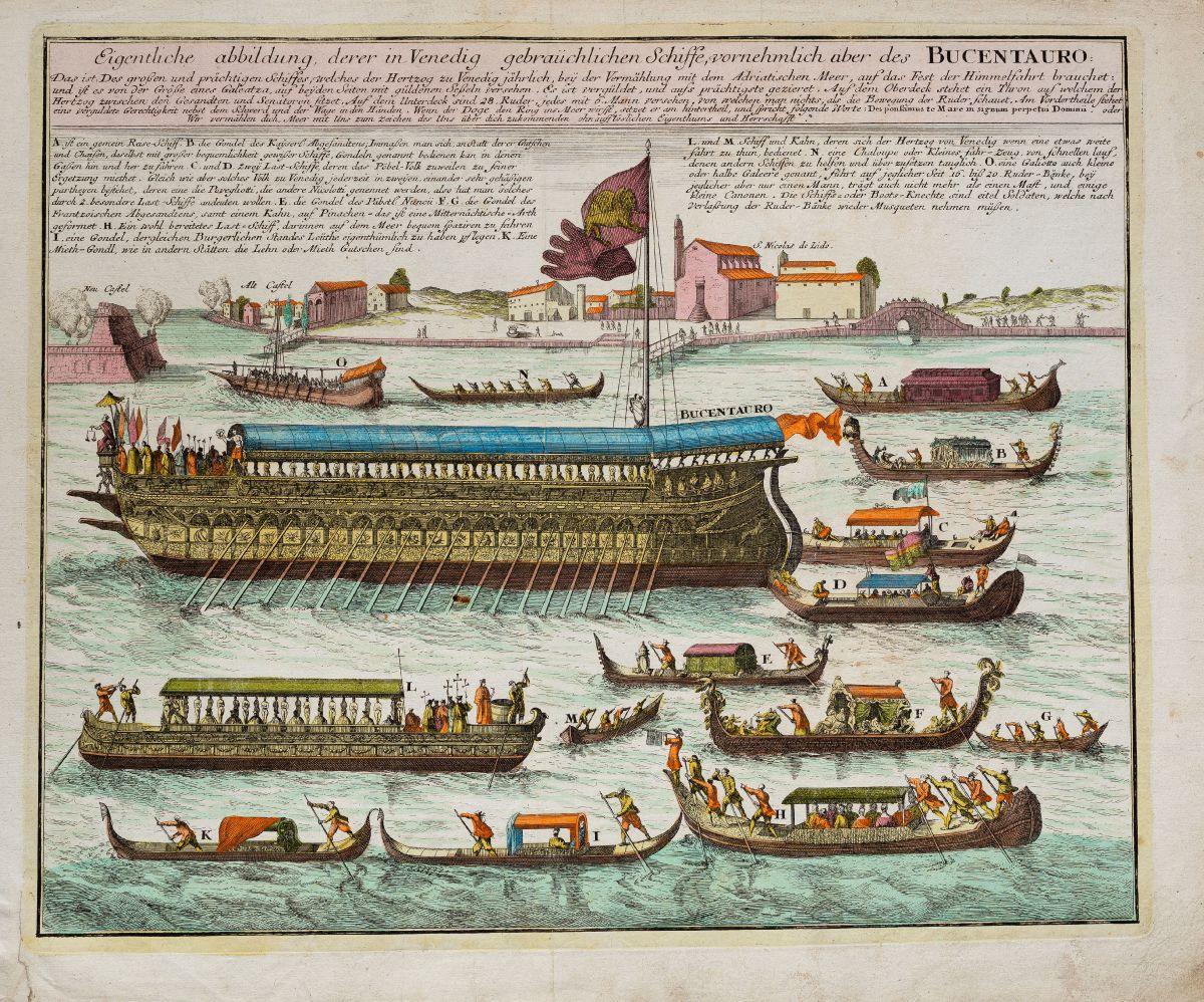 weigel-italien-venedig-bucintoro-bucentaur-galeere-1718